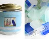 Beach Linen Scented Sea Glass Potpourri - Genuine Chesapeake Beach Glass - Loose Seaglass Beach Home Decor  - White Cobalt Blue Seafoam