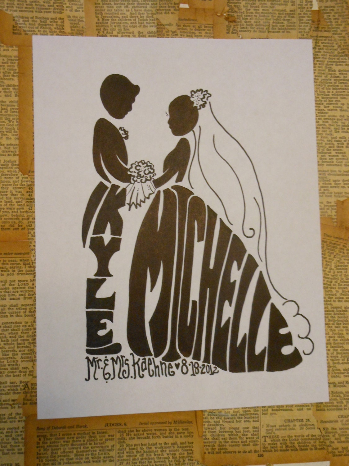 jez4u wedding gift silhouette personalized with first names