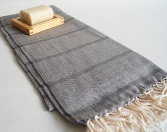 NEW Special Production Turkish BATH Towel Peshtemal - Linen - Dark Gray