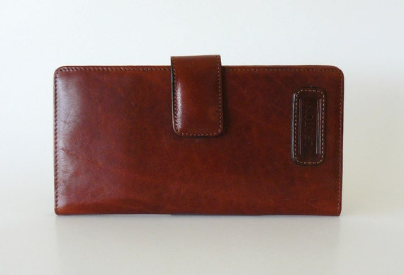 Authentic Vintage Oroton Leather Checkbook Wallet Made in Australia
