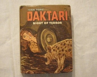 "1960's Big Little Book ""Ivan Tor's Daktari Night of Terror"""