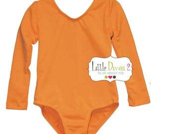 CHILD (Neon/Orange) Long Sleeve Leotard