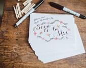 Carolina Advice for the Bride Cards DIY PRINTABLE