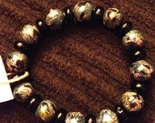 Clay Marble Design and Glass Bead Bracelet