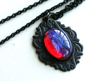 Dragon Breath Necklace - Mexican Fire Opal