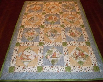 Baby Quilt - Pooh Bear and Friends