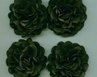 Dark Chocolate Brown Carnation Paper Flowers Embellishments