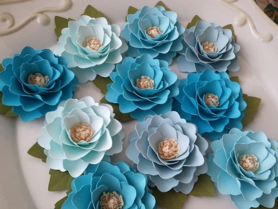 Paper Flowers - Weddings - Party Favors - Elizabeth Rose - Pick Any Color - Made To Order - SET OF 100