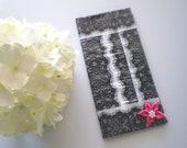Black Lace Duct Tape Wallet
