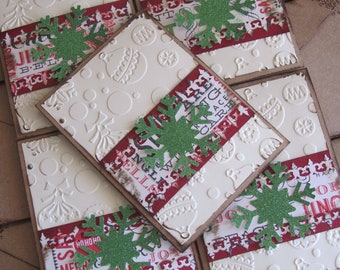 Sparkle Christmas Card Set of 8 - Christmas in July sale use coupon code cij20 for 20% off