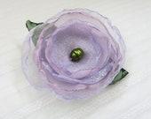 Lavender Flower - Hair Clip or Headband - Free Shipping