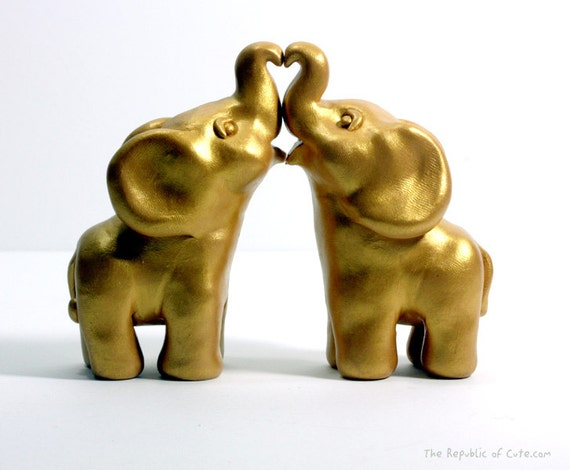 gold elephant wedding cake topper gold indian elephant wedding cake toppers ready by 14752