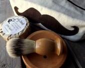 Shaving Kit, Shaving Set with Travel Bag, Mustache Travel Bag - DirtyDeedsSoaps