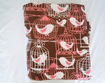 Birdcages Fleece Blanket - Extra Large