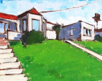 Houses in Hillcrest-  Painting of San Diego
