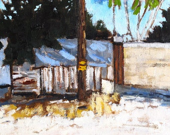 Sunny Alley in Hillcrest-  Painting of San Diego