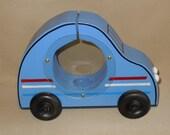 Blue VW see thru Piggy bank