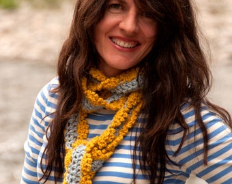 Scarf Pattern: Crochet Skinny Scarf for Women and Girls (PDF INSTANT DOWNLOAD)