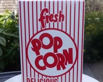 6 Retro Popcorn Box  1.25 oz.