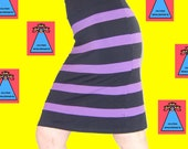 Purple Striped Tube Skirt