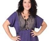 Purple INCLUDES PLUS SIZE Tunic dress with crossover front