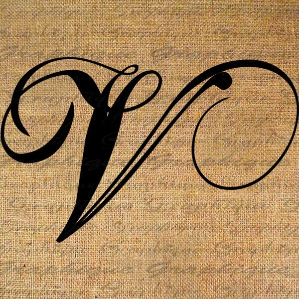 Monogram Initial Letter V Digital Collage Sheet By Graphique