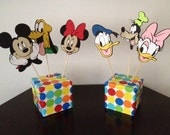 Mickey Clubhouse Centerpiece Picks - Set of 6