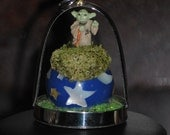 GEEKERY Miniature Yoda of the Earth, geek, galaxy, diorama, terrarium, pendant, necklace