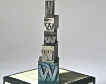 Letter W Vintage Printer's Type for Home Decor Printing Stamping Altered Art