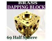 Mazbot 69 half sphere Brass Dapping block 3-42mm - DB9850L