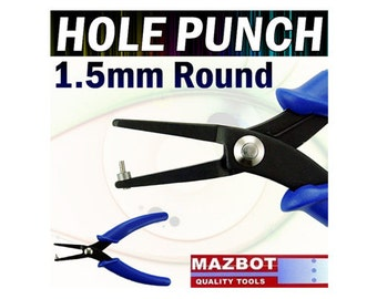 Mazbot 6in Hole Punch Pliers 1.5MM for Leather Metal Jewelry Tool Beading HPP05