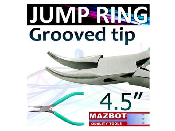 """Mazbot® 4.5"""" JUMP RING Pliers Grooved Tips for Closing Jewelry Tool Beading - JR01"""