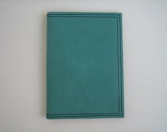 Teal Leather Passport Cover