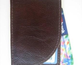 Men's Brown Leather ID Wallet