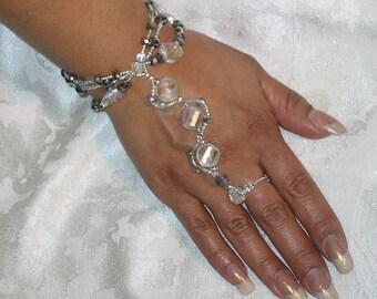 Crystal Bohemian Hipster Bracelet Happi Hands Brings Freedom Bracelet Wedding Bracelet The Corin Trecee Fire N Ice HH3