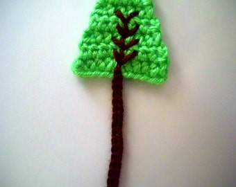 3 Handmade Tree Crochet Appliques Sewing Bow scarpbooking/  decorate for nursing. baby room