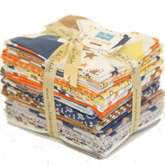 Riley Blake Super Star Fat Quarter Bundle- Complete Collection 22 Fabrics IN STOCK