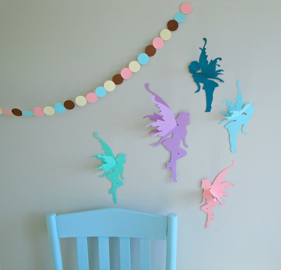 3d fairy wall art wall decals wall decor for Etsy dining room wall art