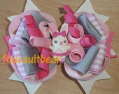Glamour Ballerina Bunny Rabbit M2MG 2012 Hair Bow Barrette Pigtail Ponytail Clips MTMG M2M
