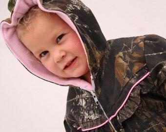Girls coat, baby girl camo, MossyOak BU, fleece