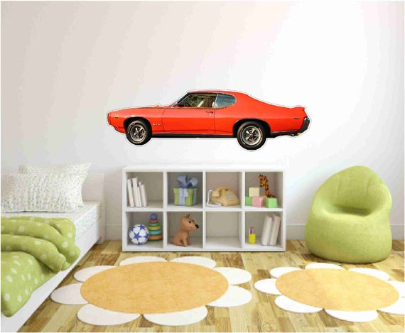 Man Cave Car Decor : Muscle car wall decals pontiac gto judgeman cave decor
