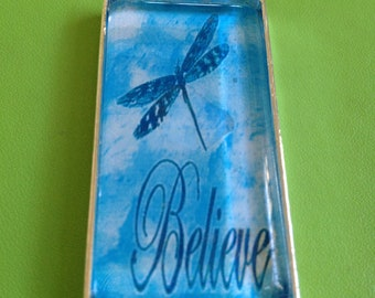 Dragonfly Believe Pendant Necklace