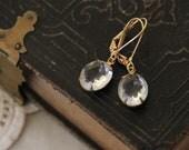 Listing for Lisabeth Jorgensen  Vintage Clear Glass Stone earrings
