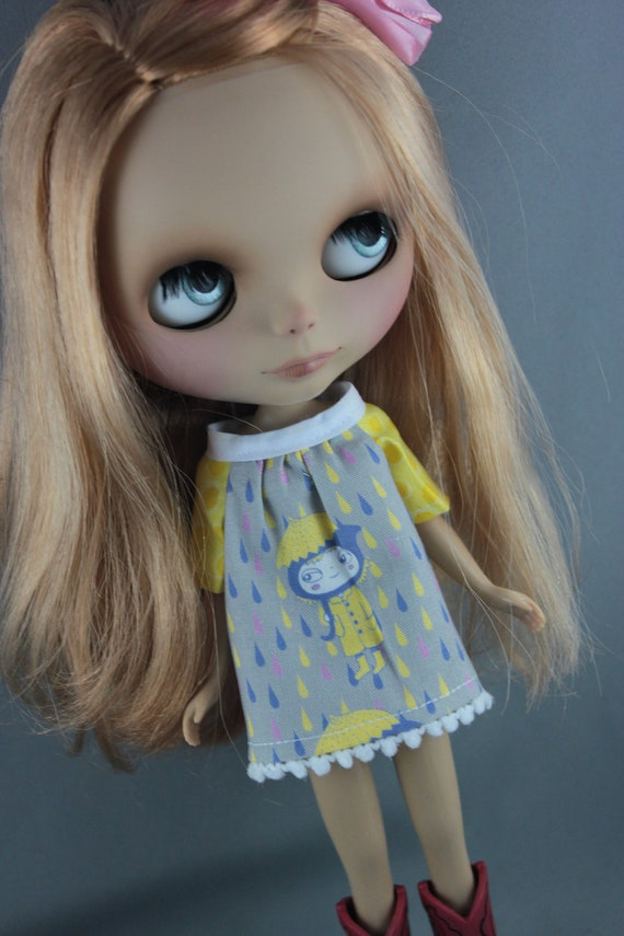 Blythe Smock Style Dress - Rain Girl