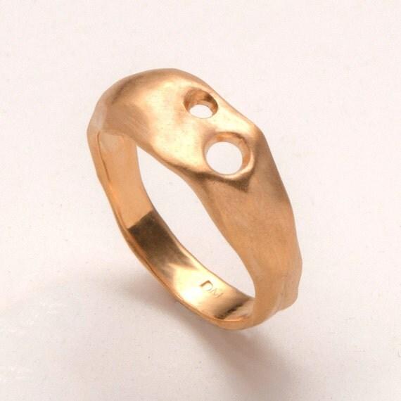 Primal - 14k gold ring, unisex ring, wedding ring, wedding band, mens ring, gold band, AA