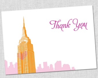 New York Empire State Building Thank You Notes - Set of 10