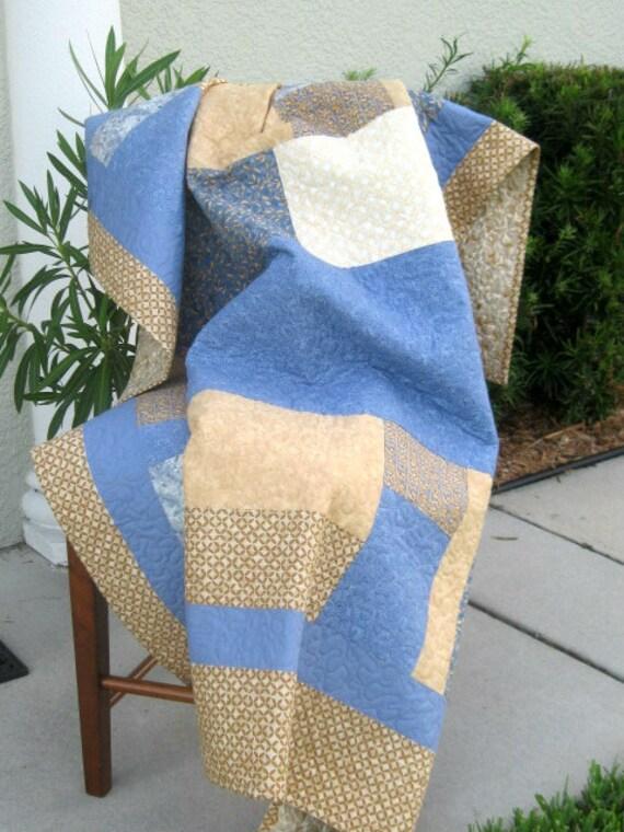 Blue/Cream - Modern/Contemporary Quilt