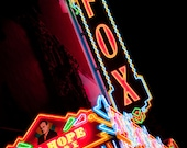 Fox Theater Neon Marquee Sign - Neon Sign at Night - Movie Lovers Gift - Cinema - Bob Hope Movie Theater - Fine Art Photography