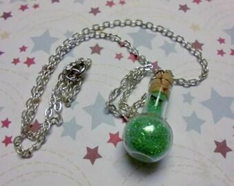 You Pick Color: Magic Dust Bottle Necklace