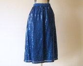 Electric Blue Sequin Skirt